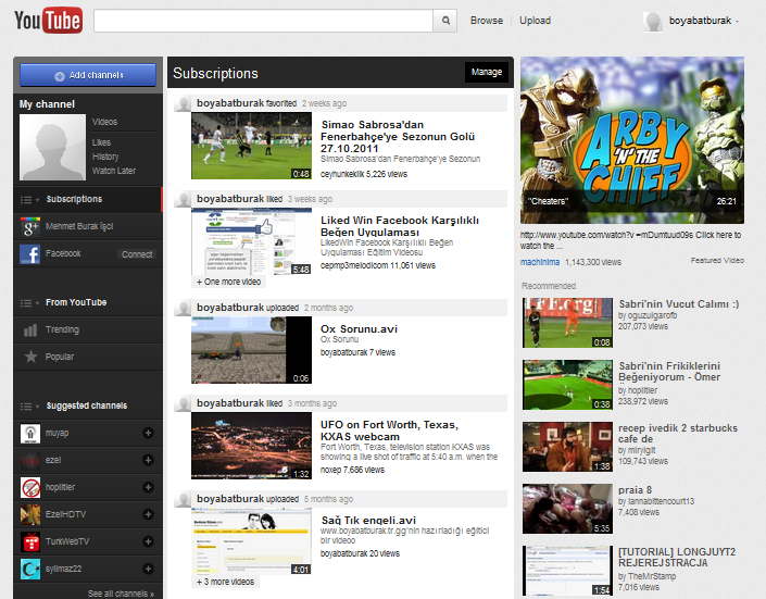 Youtube Yeni Hali