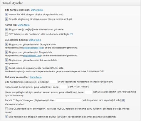 Wordpress için XML Site Haritası Oluşturucusu 2