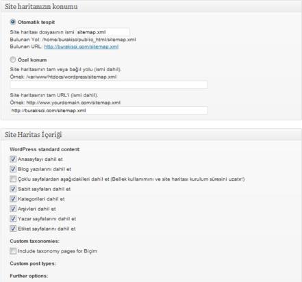 Wordpress için XML Site Haritası Oluşturucusu 4