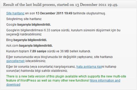 Wordpress için XML Site Haritası Oluşturucusu