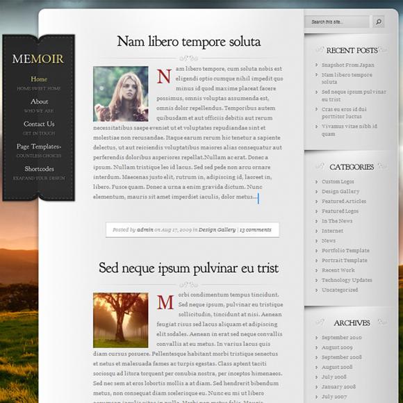 wordpress kişisel blog temaları