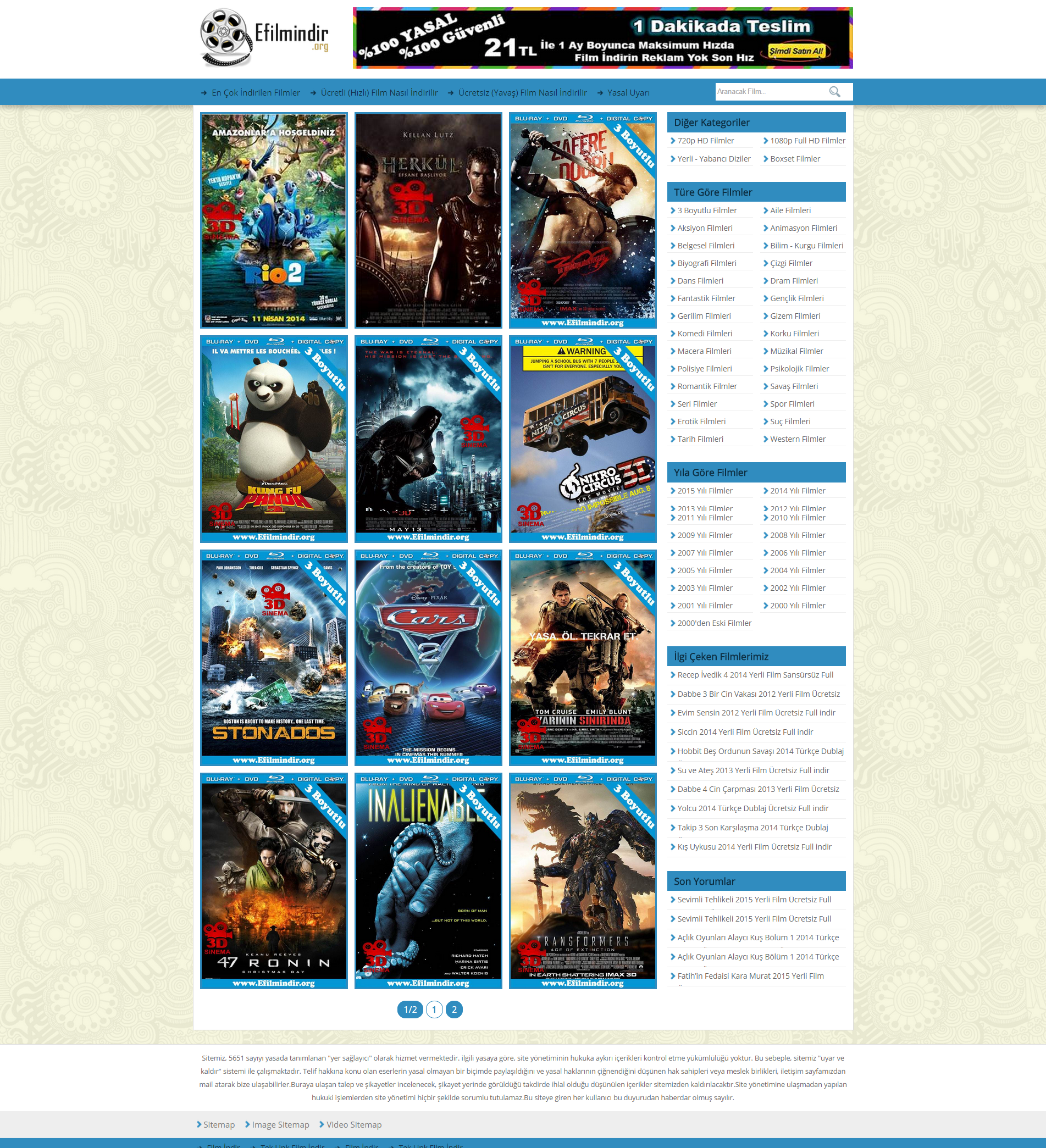 Wordpress Film Indirme Teması Burak Işci